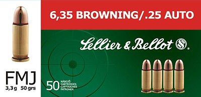 Sellier & Bellot 6.35mm BROWNING /.25 AUTO 50ks Sellier & Bellot, a.s.