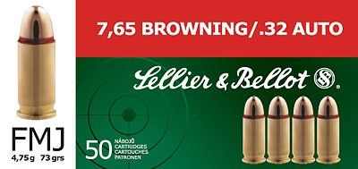 Sellier & Bellot 7.65mm BROWNING .32 AUTO Sellier & Bellot, a.s.