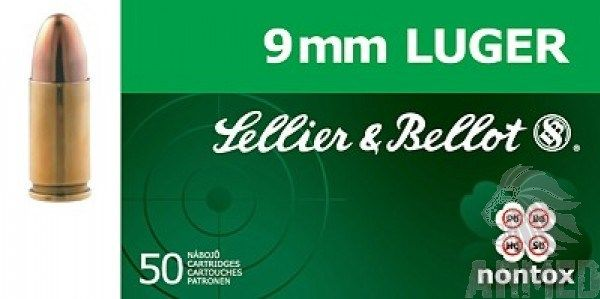 Sellier & Bellot 9mm Luger TFMJ 8g 124grs Nontox 50ks Sellier & Bellot, a.s.
