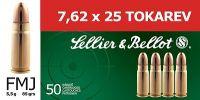 Sellier & Bellot 7.62x25 TOKAREV 5,5g 85grs 50ks