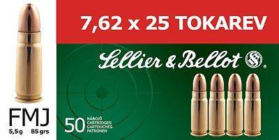 Sellier & Bellot 7.62x25 TOKAREV 5,5g 85grs 50ks Sellier & Bellot, a.s.