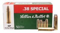 Sellier & Bellot  .38 SPECIAL SP 50ks