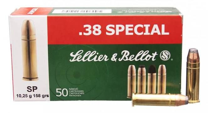 Sellier & Bellot .38 SPECIAL SP 50ks Sellier & Bellot, a.s.