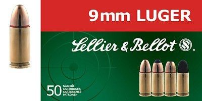 Sellier & Bellot 9mm Luger FMJ 8,0g 50ks Sellier & Bellot, a.s.