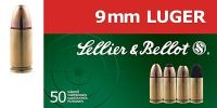 Sellier & Bellot  9mm Luger FMJ subsonic 9g 50ks