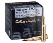 Sellier & Bellot  .308 WIN. 9,55g FMJ 50ks